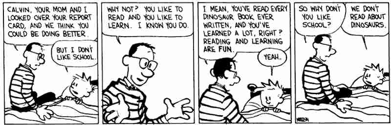 calvin-hobbes-school-is-not-about-interest